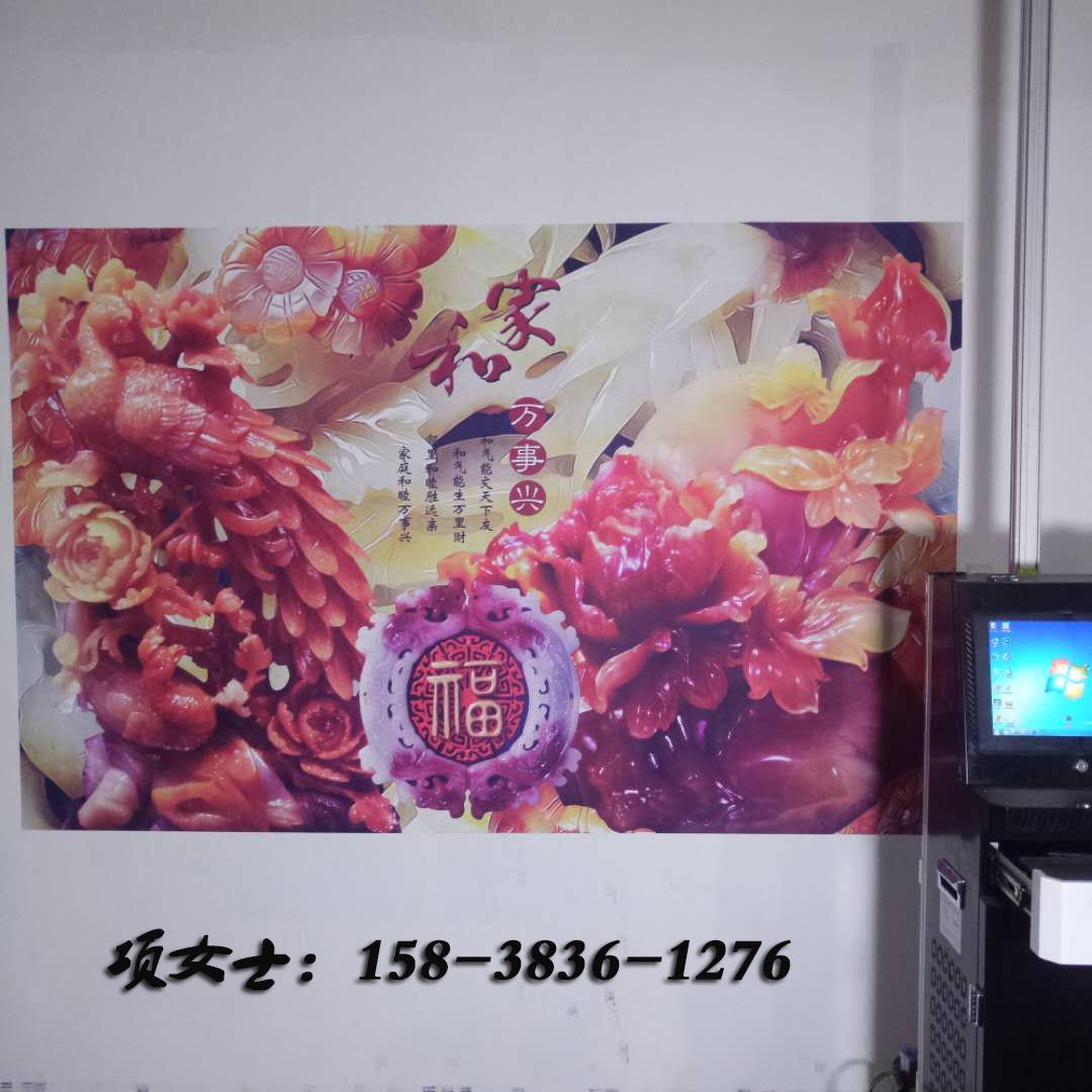 大型3d牆體彩繪打印機戶外廣告文化背景牆室內立體噴繪壁畫機