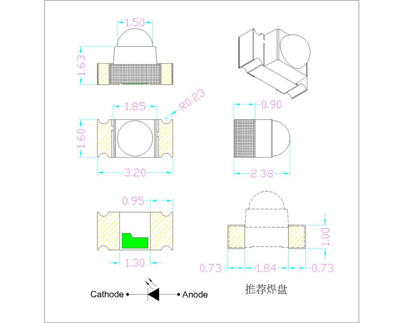 东莞高质量的深圳1206球头红外线发射优选台铭光电品牌推荐|3528白光贴片LED规格