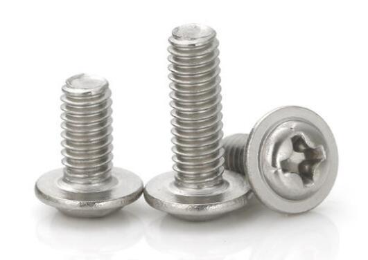 不锈钢半圆头自带垫螺丝
