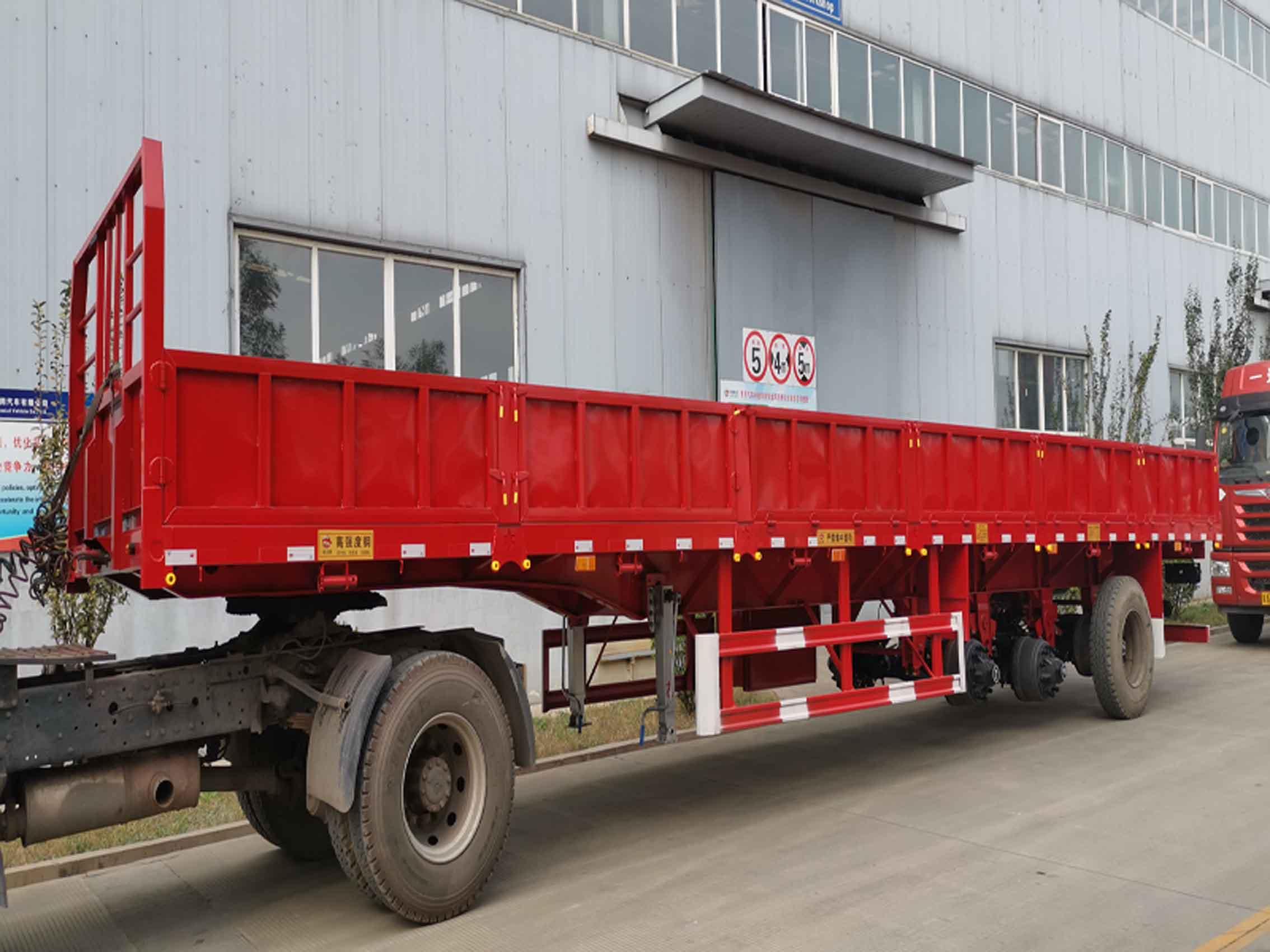 河北敬业13米低栏板半挂车生产厂