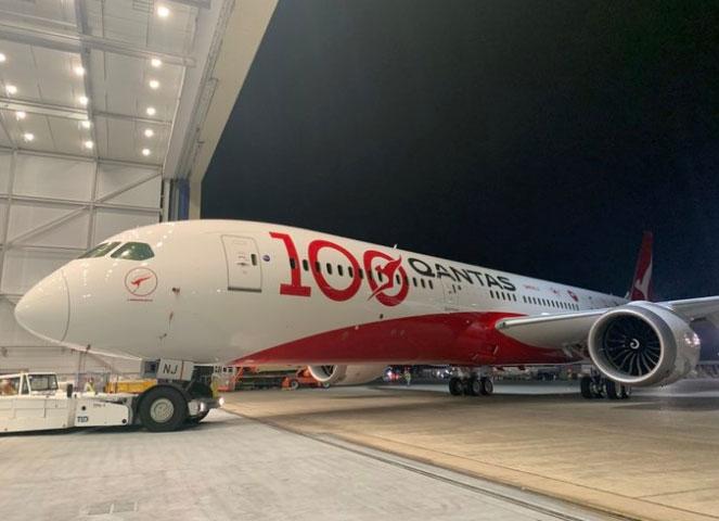 澳航100周年787彩繪飛機-波音787飛機模型