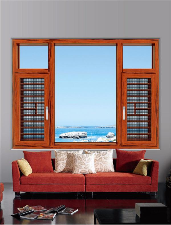 断桥门窗专卖店_大量出售高性价隔热平开窗纱一体