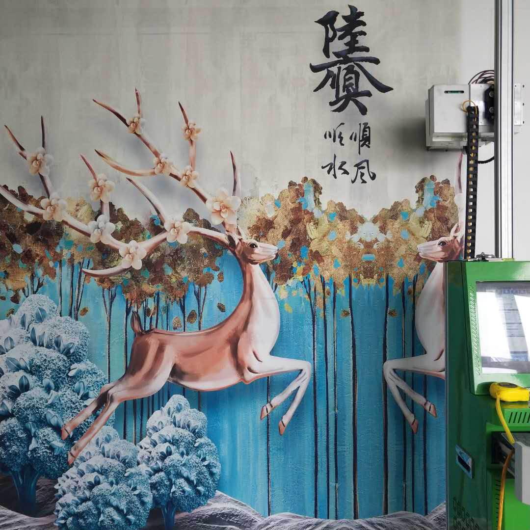 5D戶外藝術繪畫立體彩繪3D背景墻打印機室內外墻面墻體美畫彩