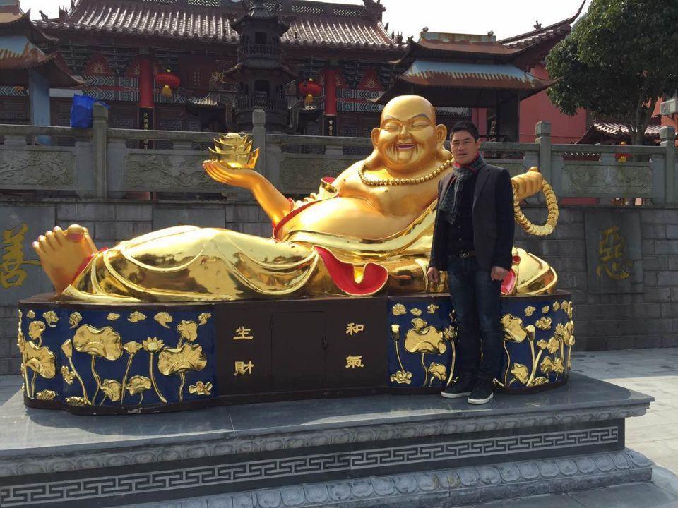 大型铸铜弥勒佛铜像寺院佛像定制