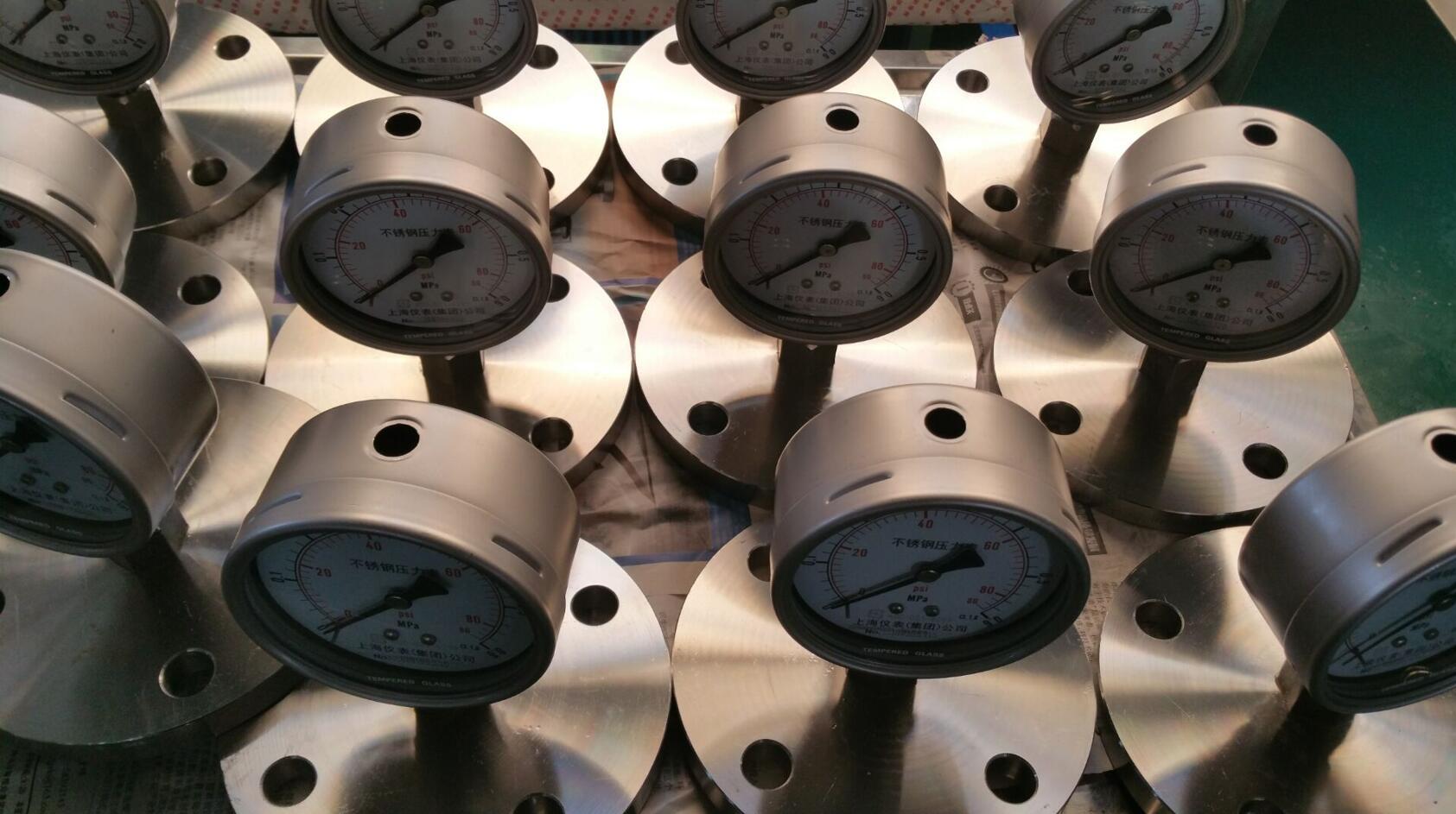 隔膜压力表选型_产品广泛用于给排水、水处理厂、储存罐