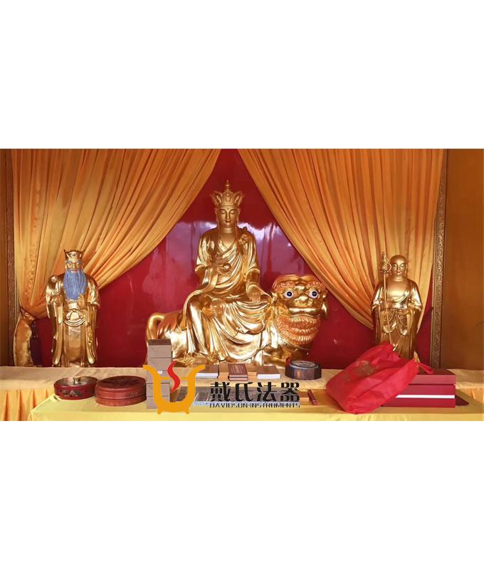 厂家直销高端鎏金地藏王菩萨寺庙铜佛像供应商