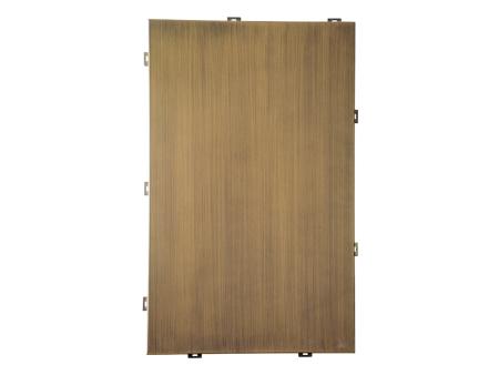 仿铜拉丝铝单板//仿铜拉丝铝单板厂家