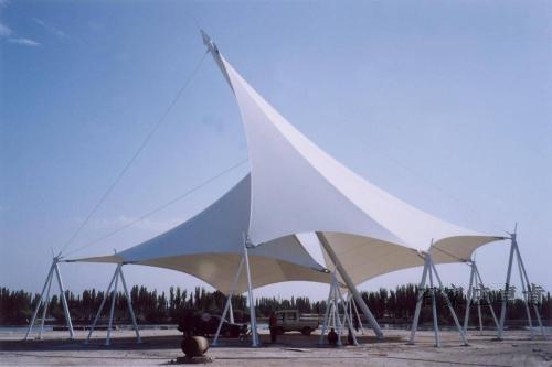 陕西膜结构厂家-鑫宇环膜结构车棚-遮阳棚-膜结构看台
