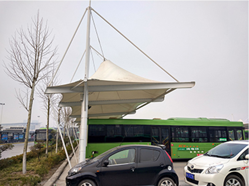 河南膜结构厂家-膜结构电车棚-停车棚