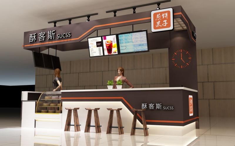 小吃饮品店装修设计