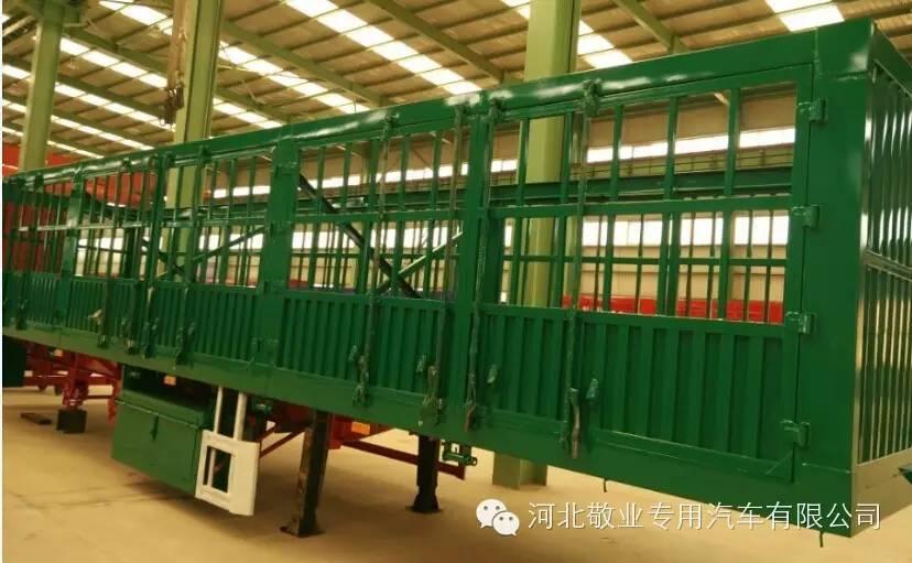 河北敬业专用汽车11米高栏板半挂车生产厂
