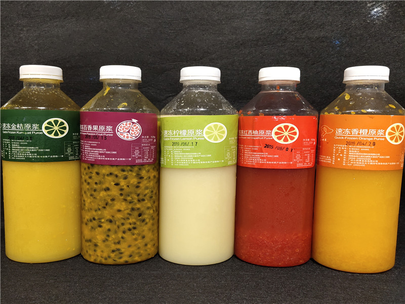 厦门冷冻柠檬汁百香果汁橙汁|厦门高品质鲜榨柠檬汁批售