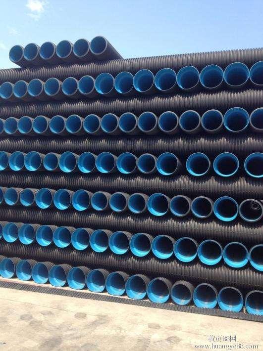 云南PVC双壁波纹排水管道批发价格_昆明PE管大量出售