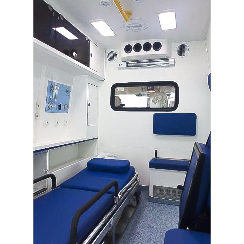 福特全顺V348短轴高顶柴油监护型�e救护车在哪买