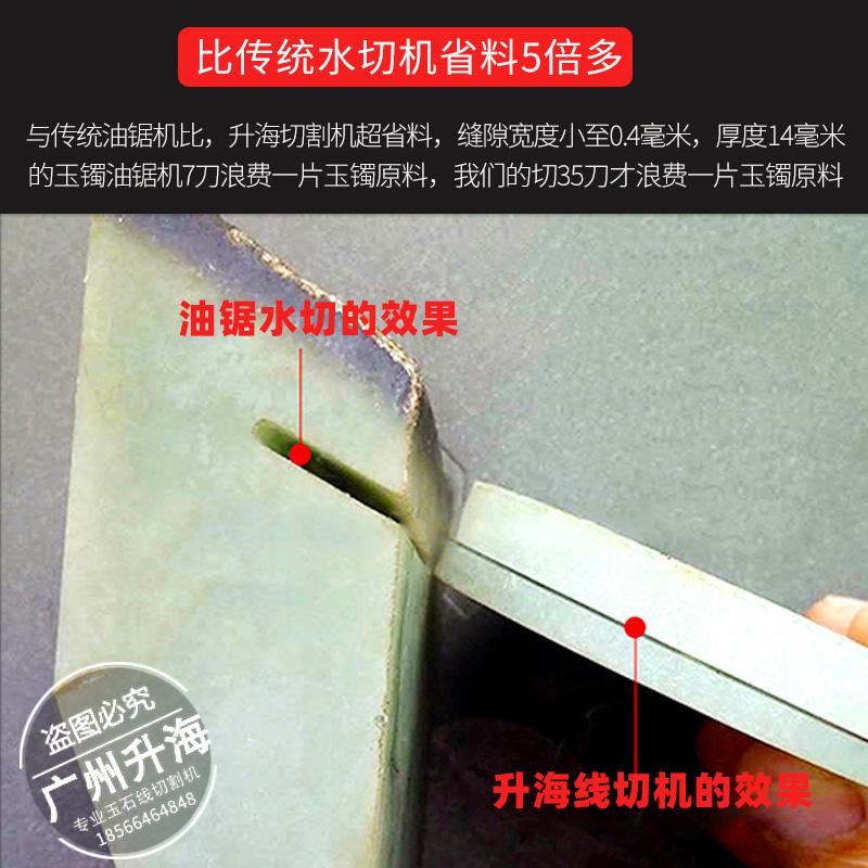 翡翠玉石线切割机多少钱一台?广州玉邦旗下升海品牌玉石微切机