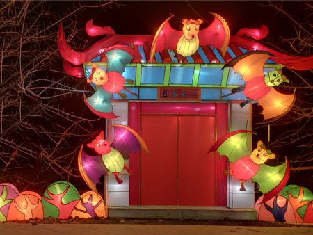 2020年老鼠燈會活動-訥河燈會花燈制作