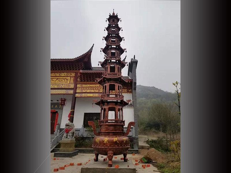 铜铁宝鼎供应商生产厂家-供应温州专业的九层宝鼎