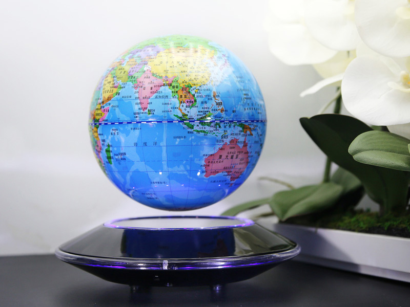 創意磁懸浮地球儀-廣東精致的磁懸浮六寸飛碟地球儀供應