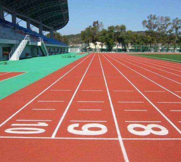 新品復合型塑膠橡膠跑道|品質優良的復合型塑膠橡膠跑道盡在廣東漢唐體育設施