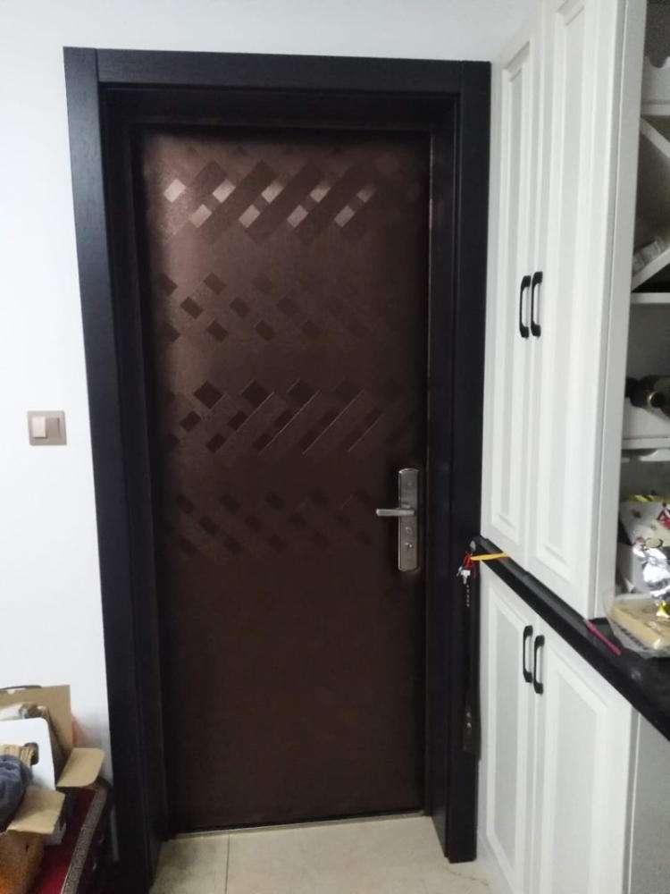 哈尔滨软包防盗门|哈尔滨防盗门加装通风窗-哈尔滨鲁班门窗