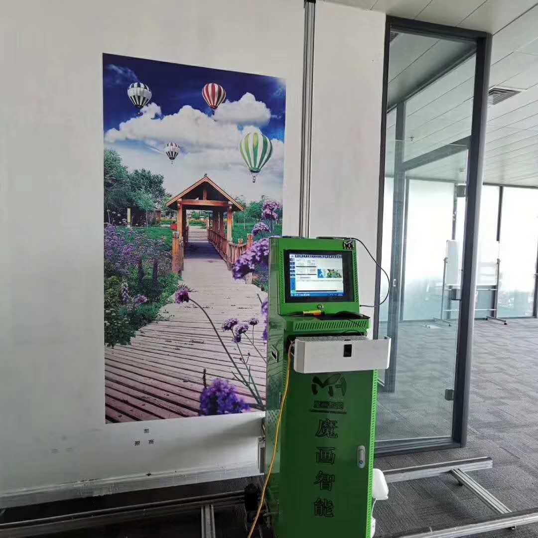 大型3d墙体彩绘打印机户外广告背景墙室内立体喷绘机
