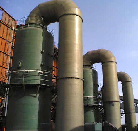玻璃钢脱硫塔温度控制,玻璃钢脱硫塔养护,脱硫塔