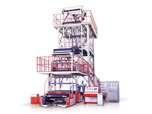 四川ABA共挤吹膜机供应商|规模大的双色彩条吹膜机生产厂