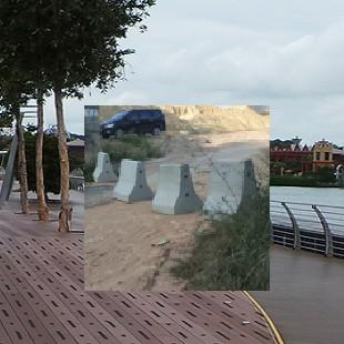 深圳小區車輛分道防撞墩15013740166鐵管水泥路墩石賣