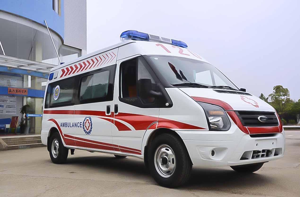 豪华高版本福特全顺V348短轴高顶柴油监护型救护车