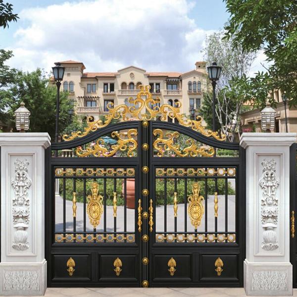 惠州铝艺大门普遍被别墅运用,别墅大门都应稳重挑选