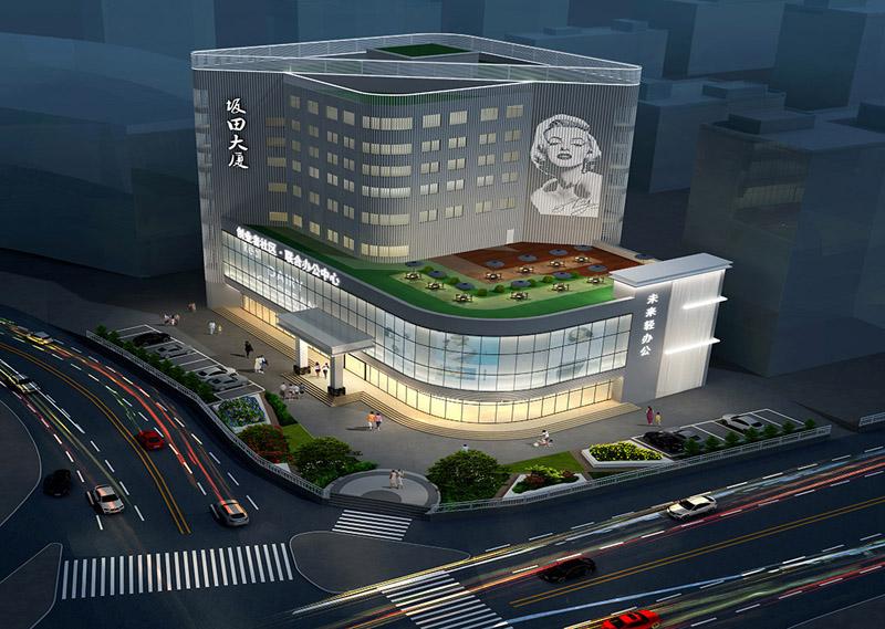 龙岗装饰设计公司—坂田大厦产业园装修设计案例