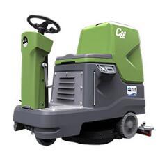 万洁云鲸C66小型双刷驾驶式洗地机,万洁清洁厂家供应