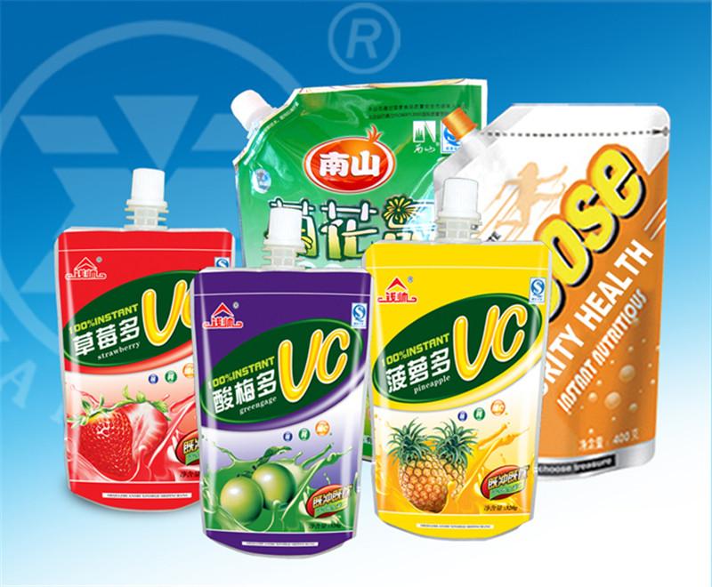 定制果冻吸嘴袋果冻包装直立吸嘴袋液体包装吸嘴袋自立果汁袋