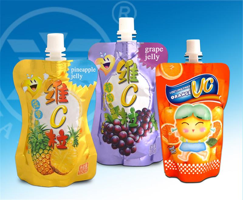 厂家带嘴吸嘴果冻饮料铝箔自立食品包装袋