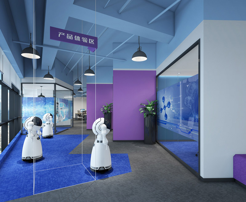 南山办公室装修设计——机器人研发企业深圳办公室装修案例