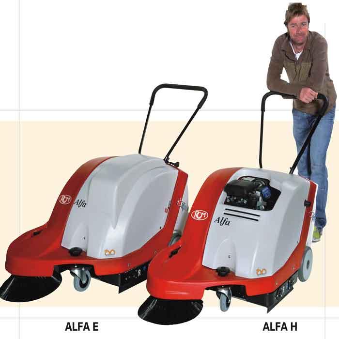 意大利RCMALFA手推式扫地机,电瓶驱动/汽油驱动可选