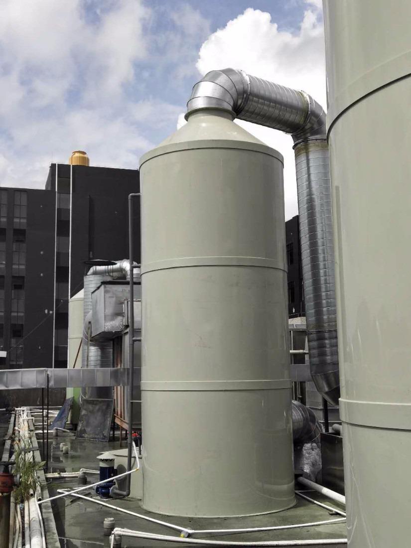 东莞虎门喷淋塔安装厂家;废气粉尘治理解决方案