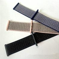中国专业的尼龙回环手表带-精编松紧表带苹果手表回环式运动表带厂家直销-推荐德盛织带