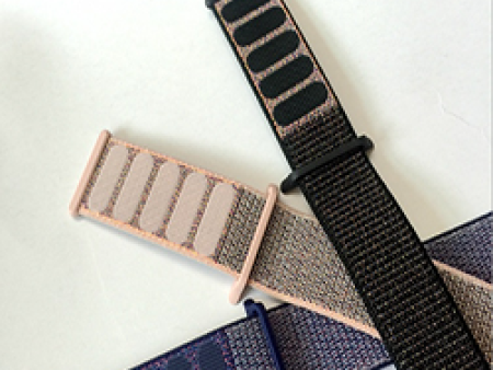 编织尼龙回环手表带定制-东莞市品牌好的精编松紧表带苹果手表回环式运动表带批发