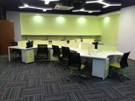现代钢架员工组合位办公桌