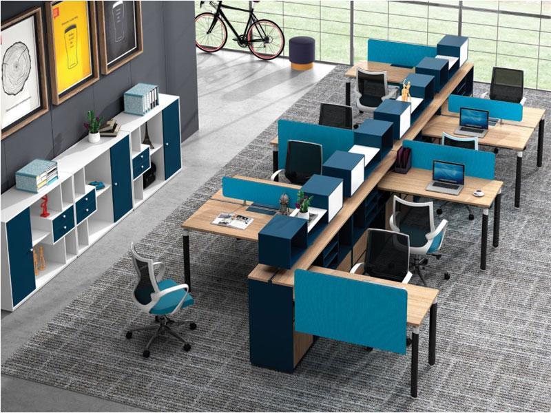 员工组合电脑办公桌
