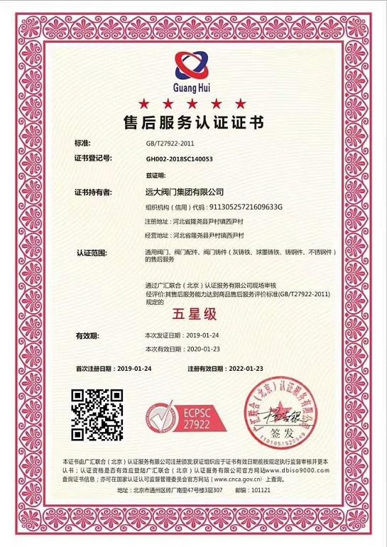 商品售后服务认证,五星级售后服务认证,售后服务体系认证