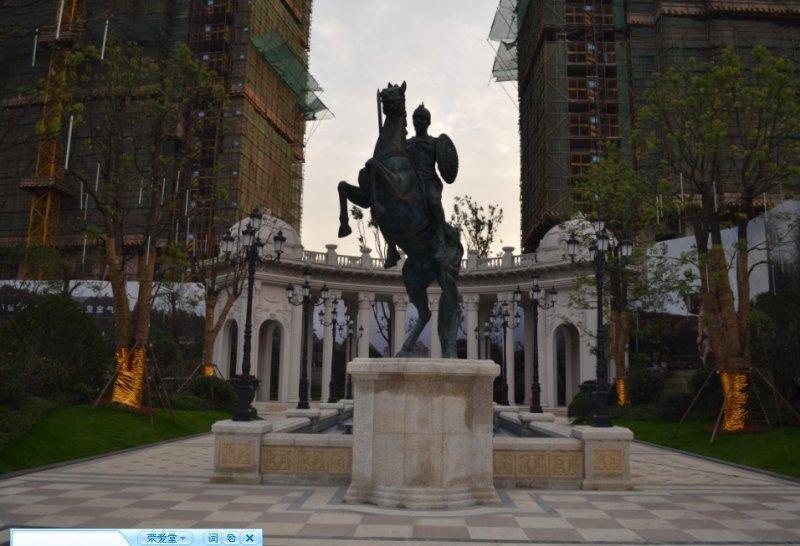 西方戰士騎馬銅雕 西方人物銅雕
