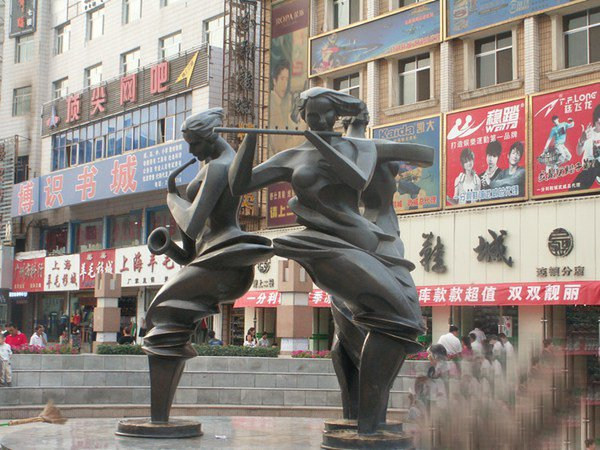音樂人物銅雕 街邊景觀銅雕