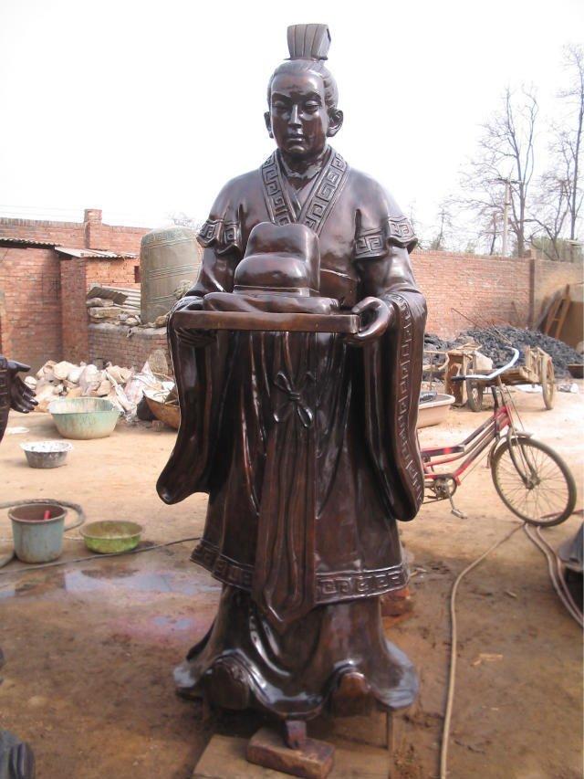 古人物�~雕 �v史人物雕塑