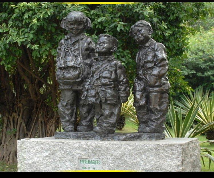 掛鑰匙的孩子銅雕 公園景觀銅雕