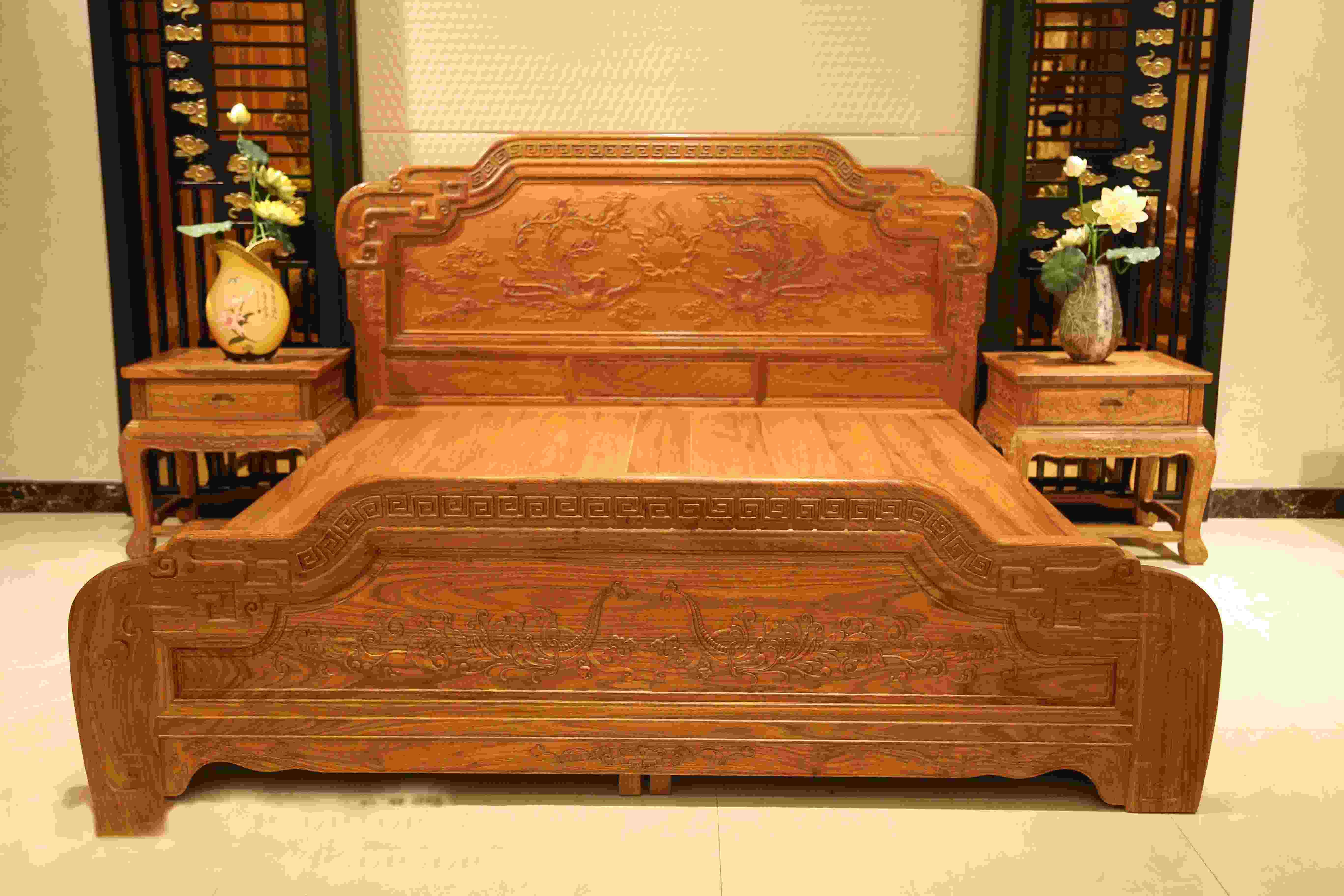 傳天匠紅木貴妃床