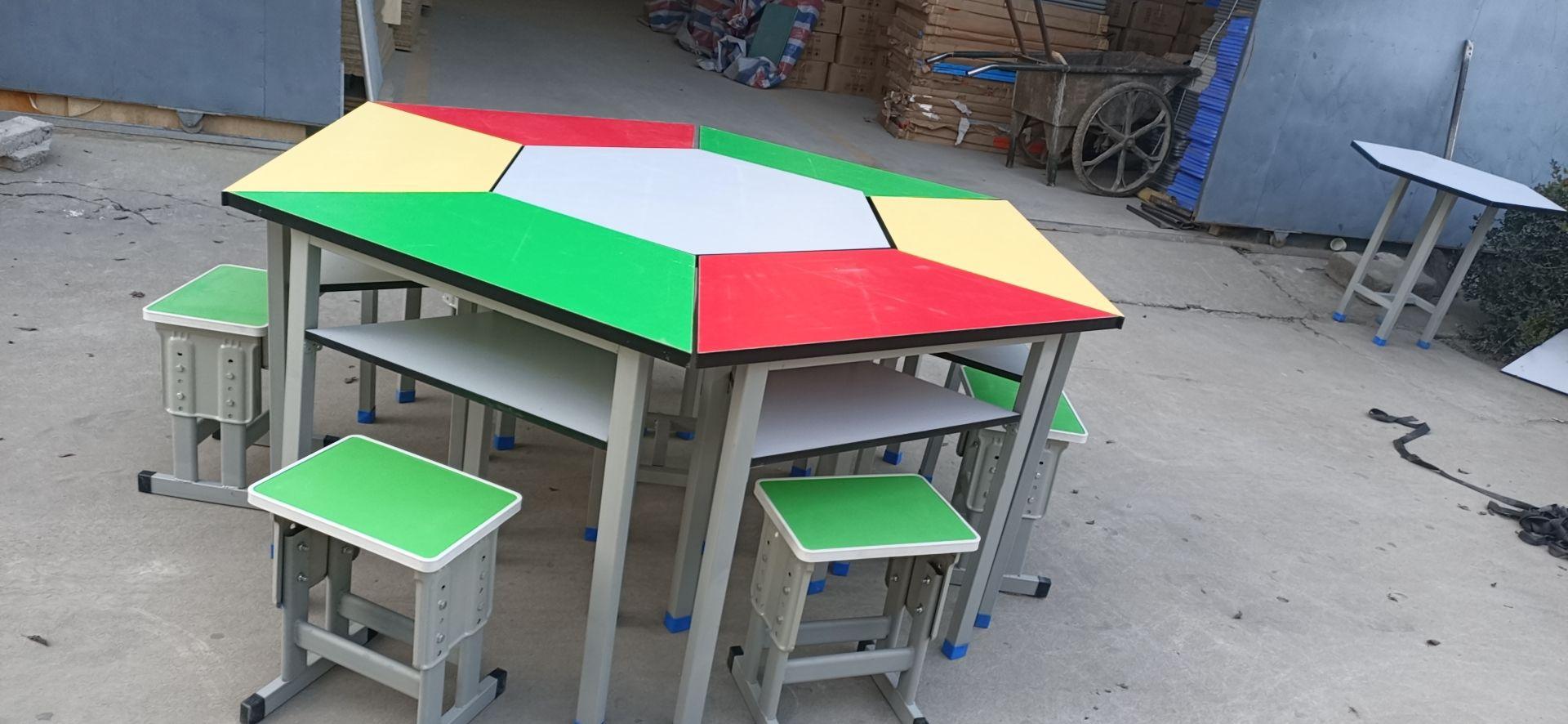 优惠的西安生产拼接六角桌厂家_西安品质彩色拼接六角桌