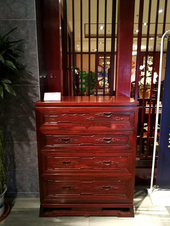 玄关鞋柜博古架实木红木色-推荐东莞具有口碑的传天匠国色红木家具
