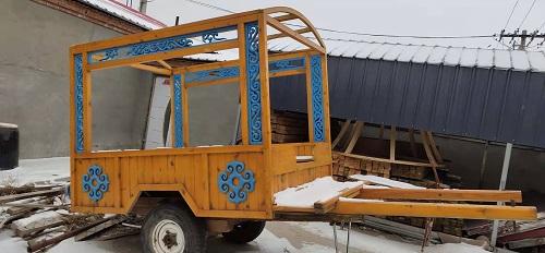 馬車定制|選實惠的馬車勒勒車,就到希拉穆仁鎮利博傳統氈包